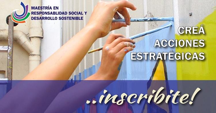 Inscripciones abiertas para la Maestría en Responsabilidad Social y Desarrollo Sostenible